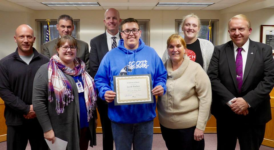 Jacob Barker – Ben Lomond High School - Student of the Month